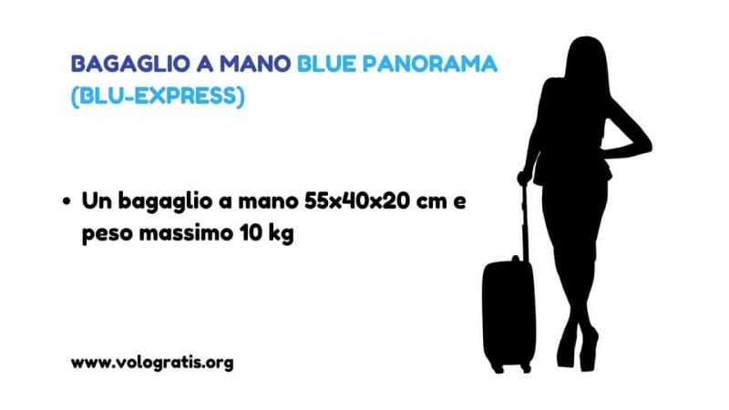 bagaglio a mano blue panorama blu express