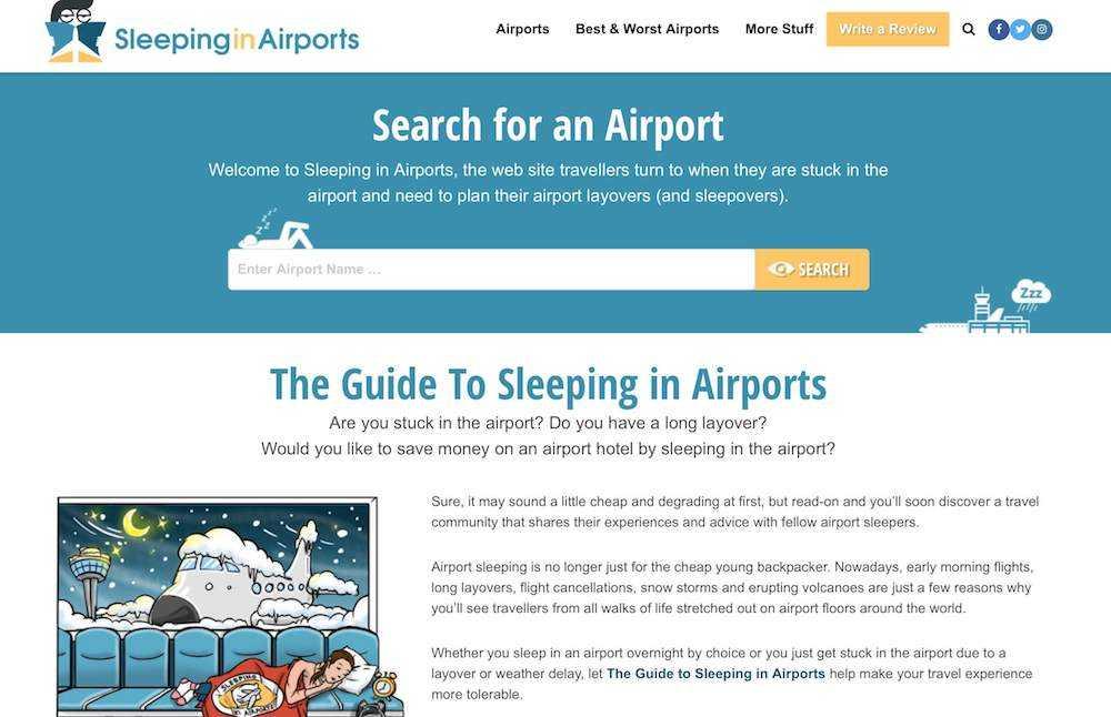 dormire in aeroporto aperto di notte
