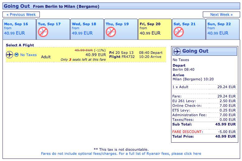 codice sconto Ryanair voli dalla germania