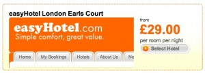 easyhotel london earls court