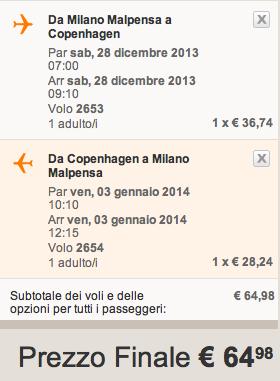 easyjet milano copenaghen a 65 euro per capodanno