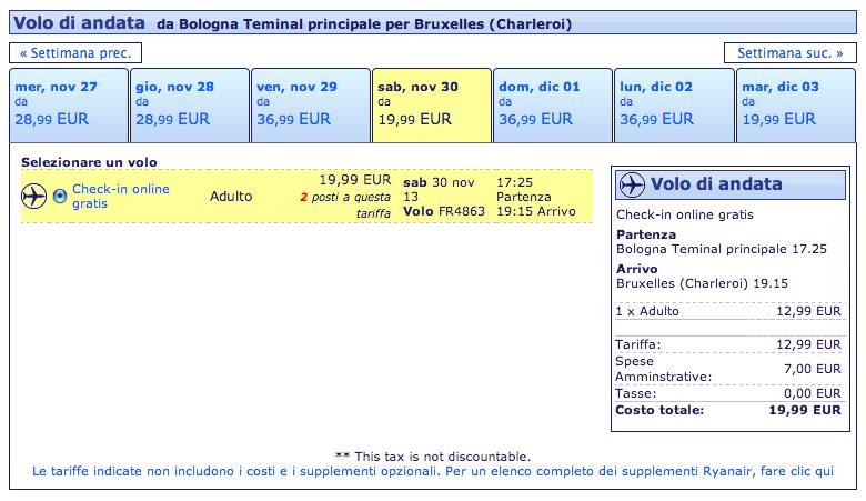 bolopgna bruxelles 19,99