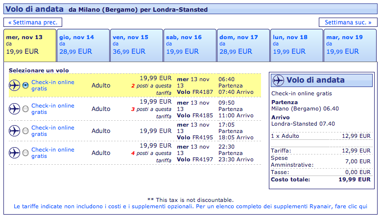 the latest 8a795 fcb37 Voli Ryanair per Londra a € 19,99 tutto compreso ...