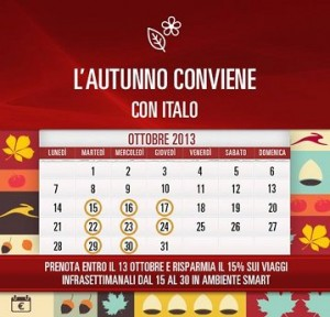 codice sconto italo ottobre 2013