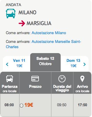 idbus milano marsiglia 19 euro