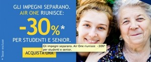 promozione air one studenti e senior
