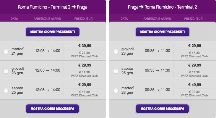 roma - praga wizz air 2013