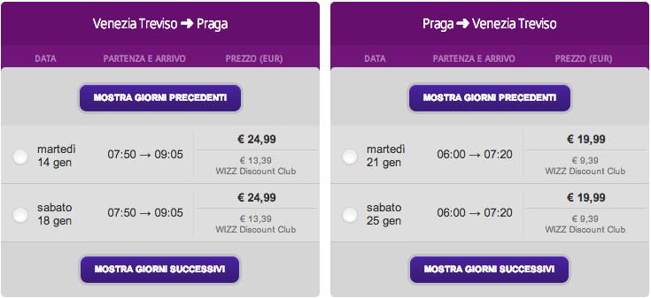 venezia - treviso praga gennaio 2013 wizz air