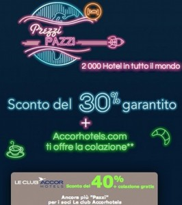 prezzi pazzi accorhotels 2013