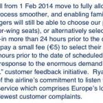 Novità Ryanair: dal 1° febbraio 2014 posti assegnati gratuitamente su tutti i voli