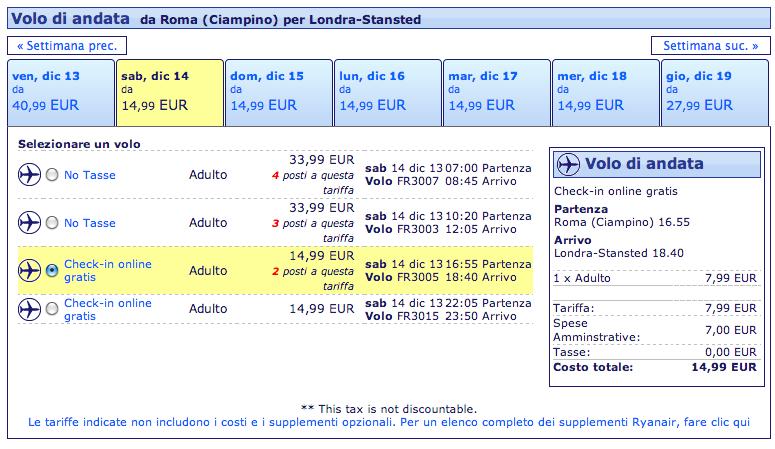 voli ryanair roma londra dicembre 2013