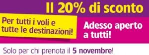 wizz air sconto del 20 5 novembre 2013