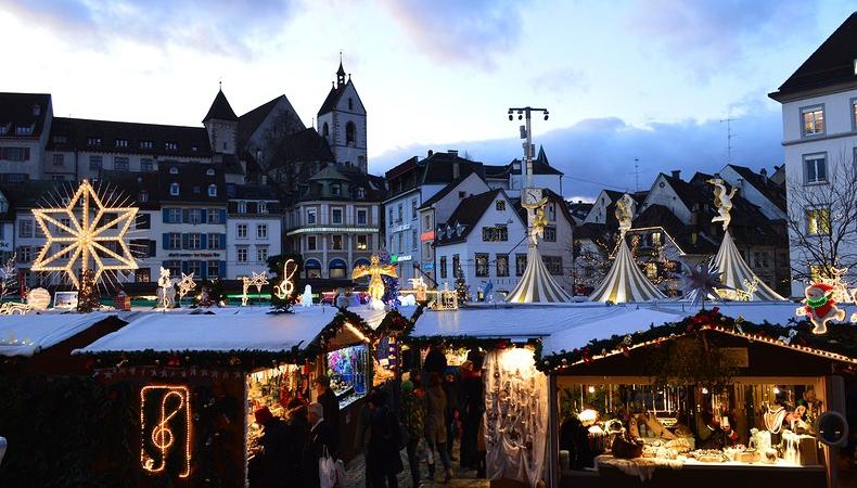 basilea mercatino di natale barfusserplatz