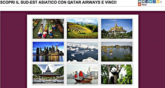 Concorso Qatar Airways per vincere voli per il sud-est asiatico e per la Cina