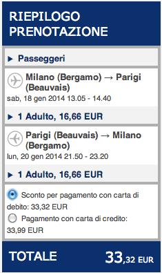 costo biglietto aereo roma parigi