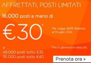 promozione easyjet gennaio 2014