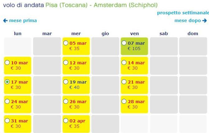 transavia pisa amsterdam