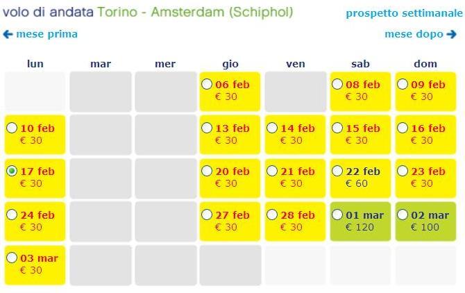 transavia torino amsterdam