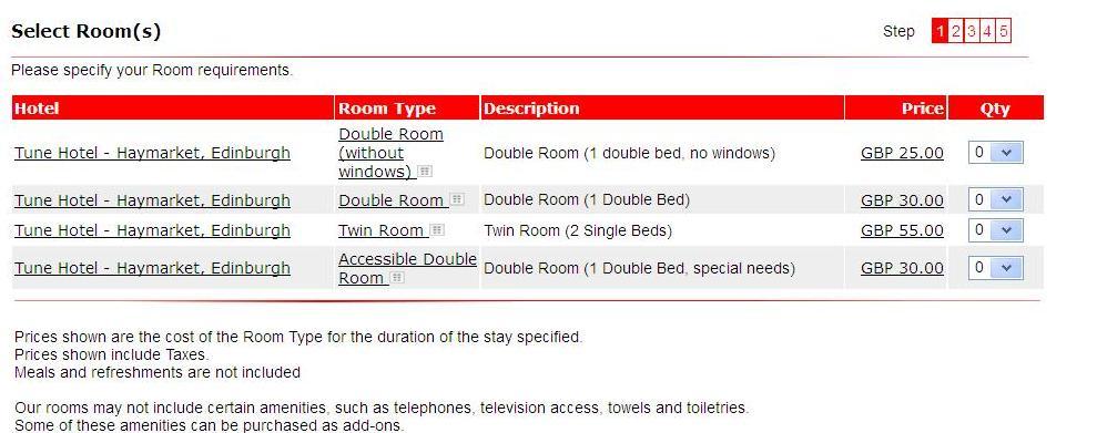 tune hotel edimburgo