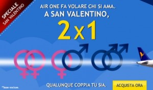 2x1 air one san valentino