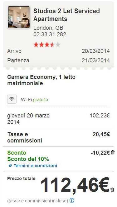 codice sconto hotels.com febbraio 2014