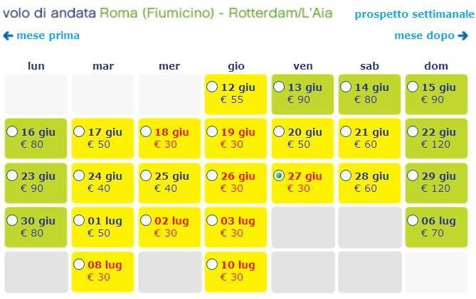 voli transavia roma rotterdam