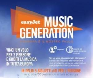 concorso easyjet music generation