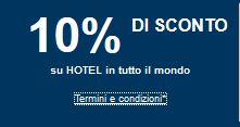 codice sconto hotel expedia