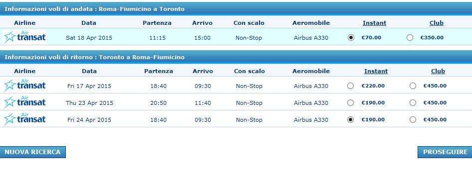 roma toronto airtransat