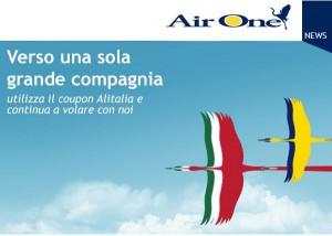 codice sconto alitalia air one