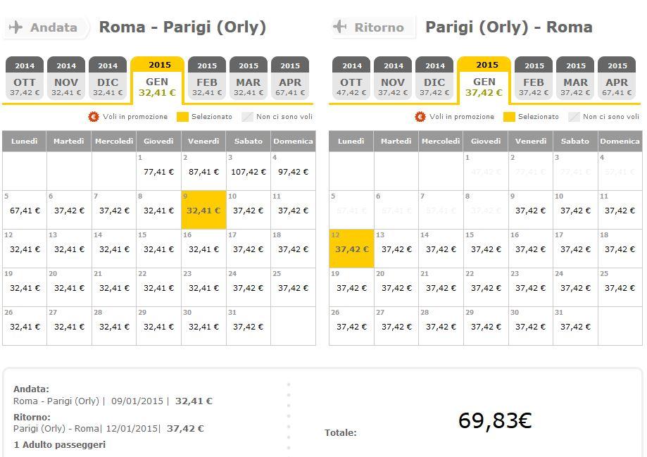 roma parigi vueling