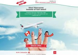concorso per vincere voli per il Canada