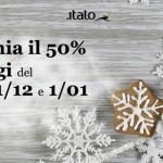 Per Natale e Capodanno biglietti Italo treno a metà prezzo