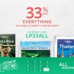Codice sconto Lonely Planet del 33%