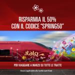 Codice sconto Italo treno del 50%