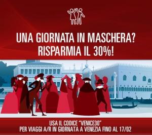 codice sconto italo carnevale di venezia