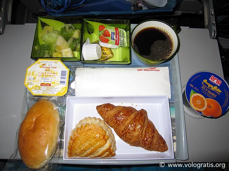 colazione air  mauritius
