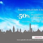 Codice sconto Italo treno del 50% per viaggiare da e per Torino, Bologna e Venezia
