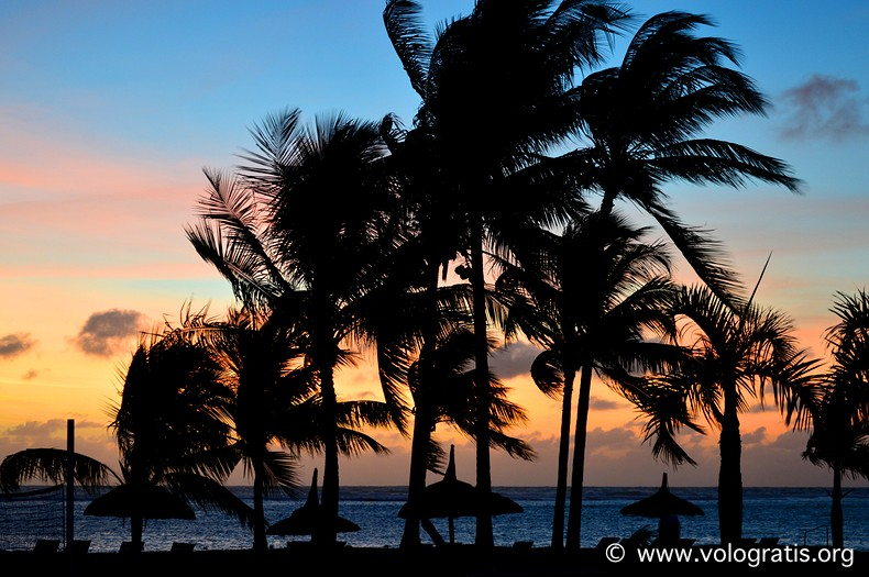 sunset in mauritius flic en flac