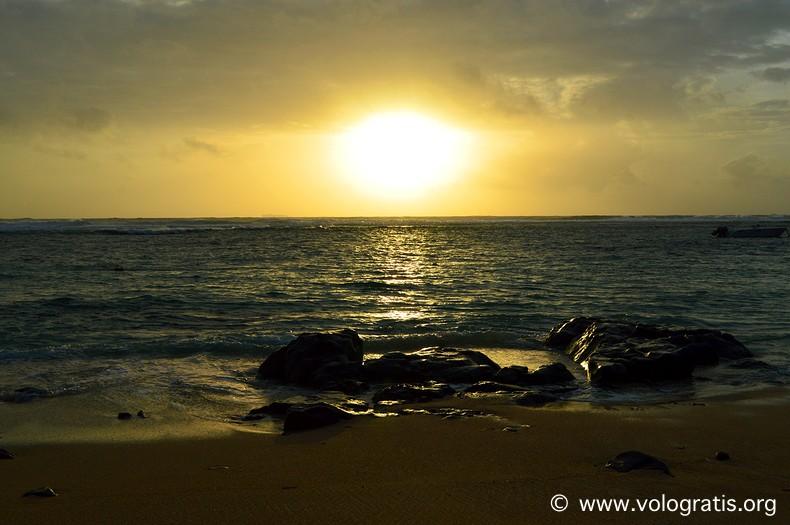 tramonto viaggio a mauritius