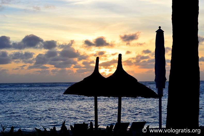 tramonto flic en flac mauritius