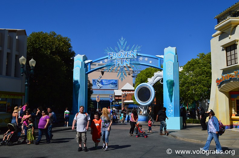 frozen california adventure