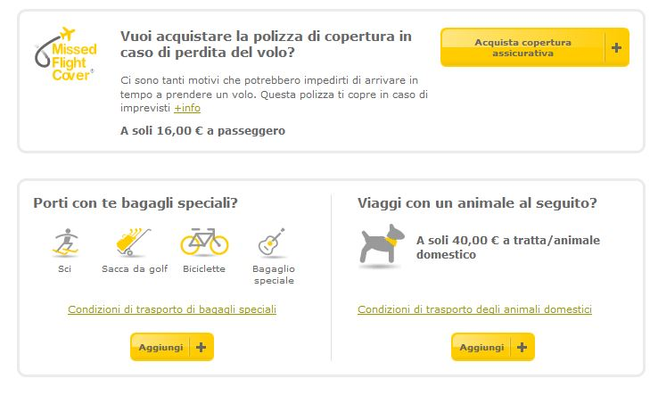 animali a bordo vueling