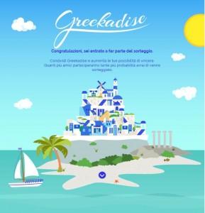 concorso per vincere voli per le isole greche