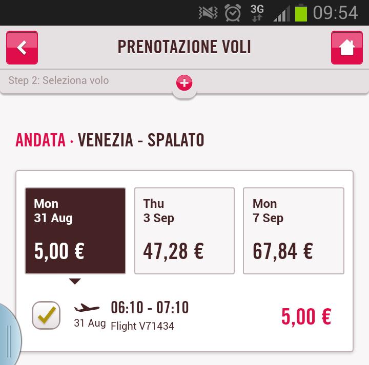 venezia spalato volotea 5 euro
