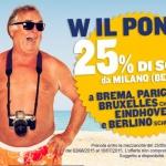 Voli Ryanair scontati del 25%