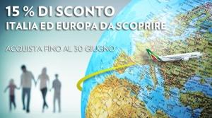 codice sconto alitalia per italia ed europa