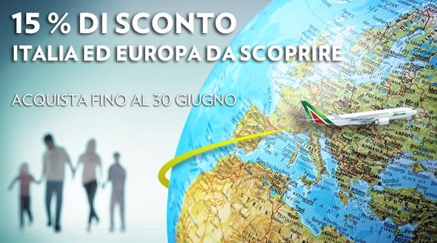 Codice sconto Alitalia per volare in Italia, in Europa e in Nord Africa