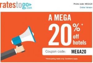 codice sconto hotel rates to go