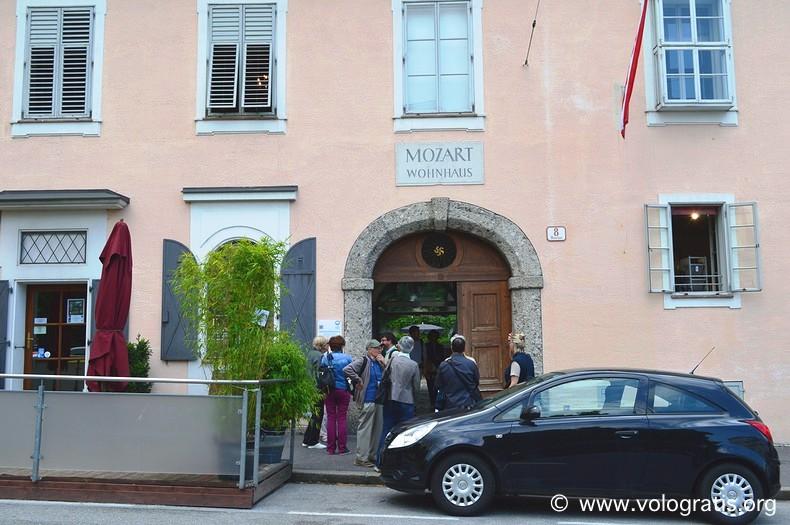casa d'abitazione di mozart da visitare a salisburgo